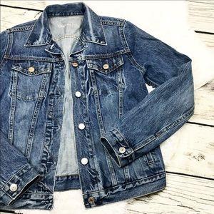 Women's GAP Jean Denim Blue Jacket Size Medium